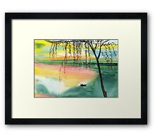 Fishing 1 Framed Print
