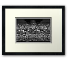 ©DA Mountain Fractal Monochrome Framed Print