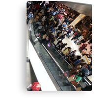 Busy mall Canvas Print
