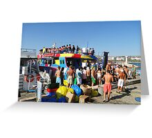 Party boat Greeting Card
