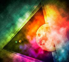 Abstract Full Moon Spectrum by Phil Perkins