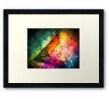 Abstract Full Moon Spectrum Framed Print