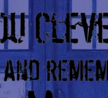 Doctor who - Clara Oswin Oswald Sticker