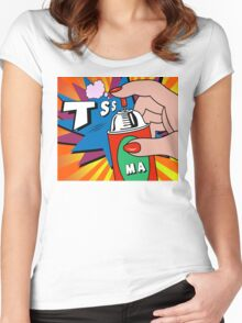 pop art Women's Fitted Scoop T-Shirt