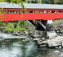 Taftsville Covered Bridge Vermont by Edward Fielding