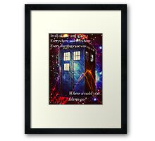 The Galaxy Tardis Framed Print