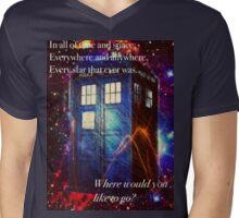 The Galaxy Tardis Mens V-Neck T-Shirt