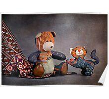 Still Life #31 - Sapa Bear & Cat  Poster