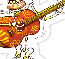 Mexican Skeleton Playing Guitar Sticker