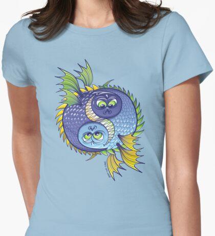 Monstrous Yin Yang Womens Fitted T-Shirt