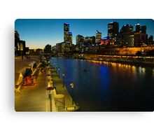 Melbourne River Skyline at Dusk Canvas Print