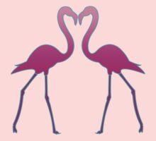 Flamingo In Love by V-Art