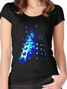 Dalek Gamma – Blue Women's Fitted Scoop T-Shirt