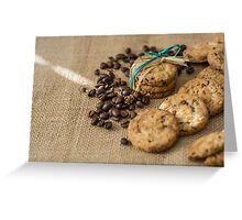 Homemade cookies and coffee beans Greeting Card