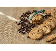 Homemade cookies and coffee beans Photographic Print
