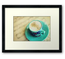 Latte Break Framed Print