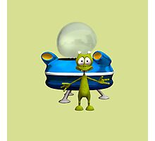 Friendly Alien Photographic Print