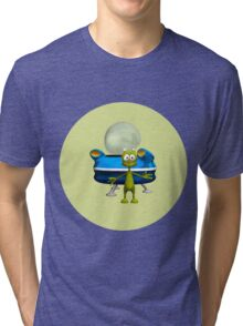 Friendly Alien Tri-blend T-Shirt