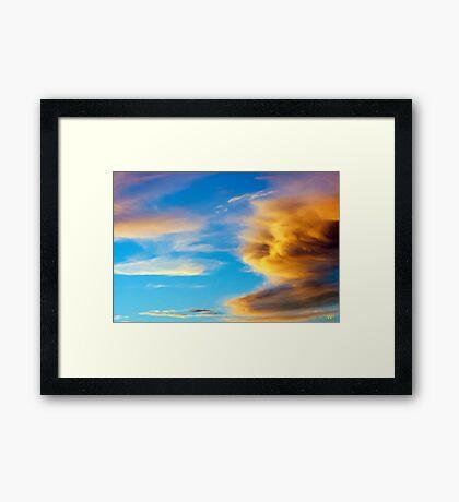 Red Cloud Framed Print