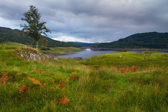 Glen Finglas Reservoir in the autumn by Gabor Pozsgai