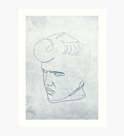 Elvis Presley one-line drawing Art Print