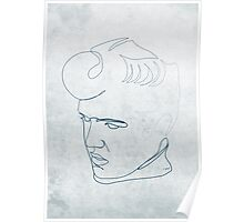 Elvis Presley one-line drawing Poster