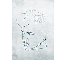 Elvis Presley one-line drawing Photographic Print