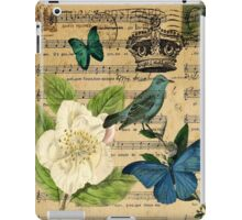 classic vintage butterfly rose music notes art iPad Case/Skin