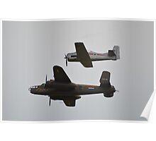 B-25 Mitchell & T-28 Fennec Poster