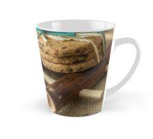 Cookies and milk on bamboo pad Tall Mug