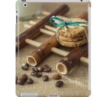 Cookies and milk on bamboo pad iPad Case/Skin