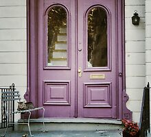 Purple Doors with Cat by picsbytabitha