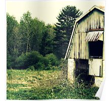 Vintage Barn upstate New York rural decay photograph Poster