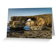 The Azure Window, Malta Greeting Card
