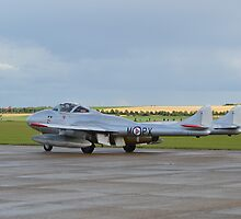 De Havilland T-55 Vampire by mike  jordan.