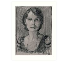 "Lady Mary Josephine Crawley ""Downton Abbey"" Art Print"