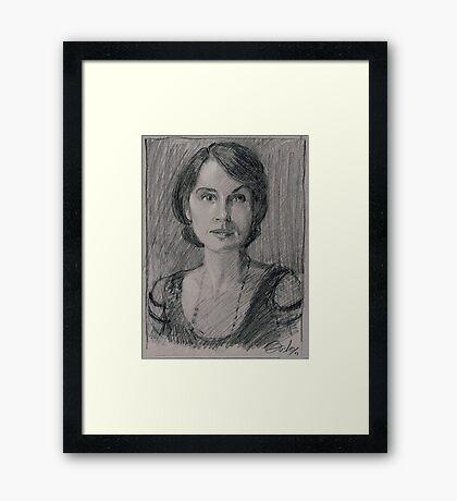 "Lady Mary Josephine Crawley ""Downton Abbey"" Framed Print"
