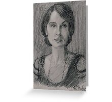 "Lady Mary Josephine Crawley ""Downton Abbey"" Greeting Card"