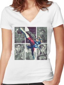 A Legendary Woman Women's Fitted V-Neck T-Shirt