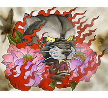 Flaming Panther Photographic Print