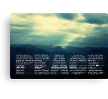 Peace Quotes From Scripture Canvas Print