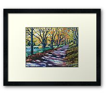 'AUTUMN SIGHS, LEAVES WHISPER' Framed Print