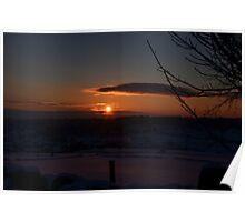 Snowy Yorkshire Sunrise Poster