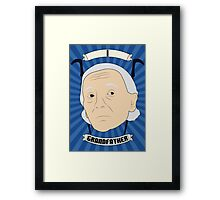 Doctor Who Portraits - First Doctor - Grandfather Framed Print