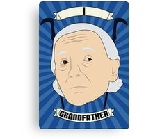 Doctor Who Portraits - First Doctor - Grandfather Canvas Print