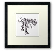 Steampunk T-Rex Framed Print