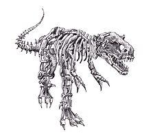 Steampunk T-Rex Photographic Print