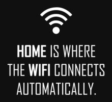 Home is where wifi connects automatically by Sandy W
