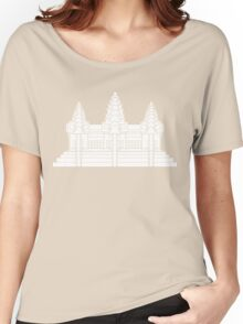 Angkor Wat / Khmer / Cambodian Flag Women's Relaxed Fit T-Shirt