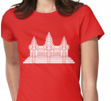 Angkor Wat / Khmer / Cambodian Flag Womens Fitted T-Shirt